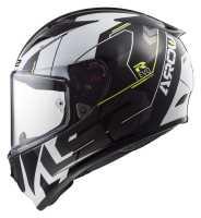LS2 Arrow R Evo Techno FF323 Sport Integralhelm schwarz-weiß