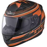 Germot GM 306 Integralhelm matt-schwarz-orange mit Integriertem Sonnenvisier