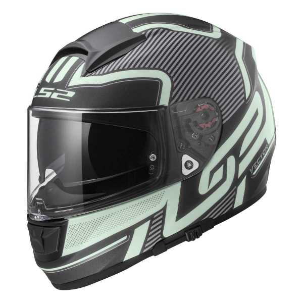 LS2 Vector FT2 Orion FF397 Fiberglas Integralhelm matt-schwarz-light