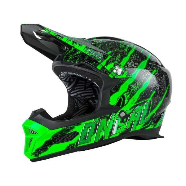 Oneal Fury Mercury Downhill Helm schwarz-grün