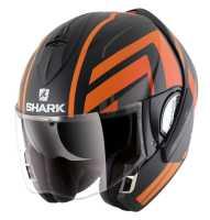 Shark Evoline 3 CORVUS MAT Klapphelm matt-schwarz-orange