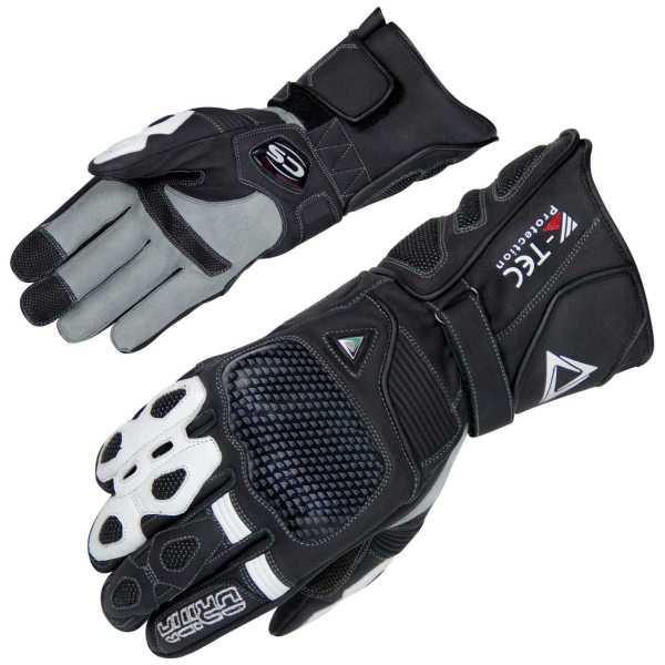 Orina Falcon sportlicher Motorradhandschuh schwarz-grau-weiß