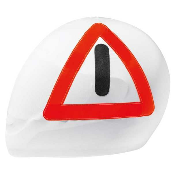 HELD Helmbeutel mit Warndreieck print weiß
