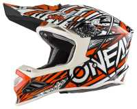 ONEAL 8Series SYNTHY Motocross Helm orange-weiss
