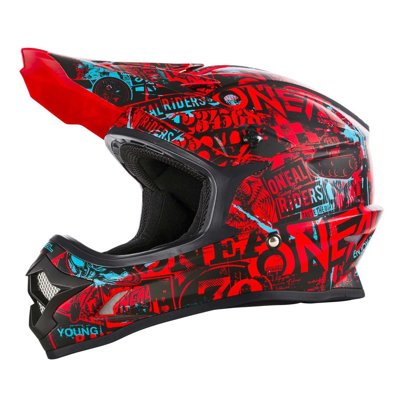 oneal 3series attack motocross helm schwarz rot t rkis. Black Bedroom Furniture Sets. Home Design Ideas