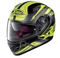 X-Lite X 661 Honeycomb N-Com Motorradhelm schwarz-gelb-matt