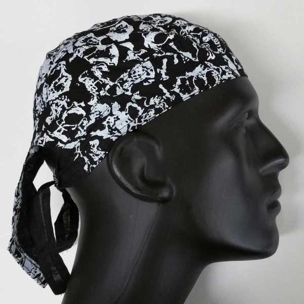 Zandana Kopftuch mit Muster schwarz weiß