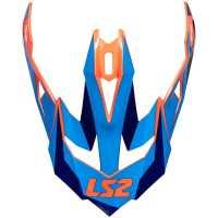 Ersatzschild für LS2 Subverter Nimble schwarz-blau-orange
