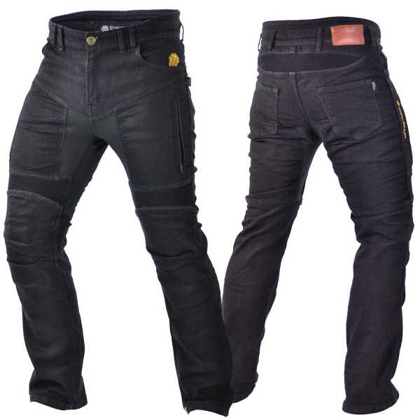 Trilobite Parado Forcefield Motorrad Jeans Herren kurz schwarz