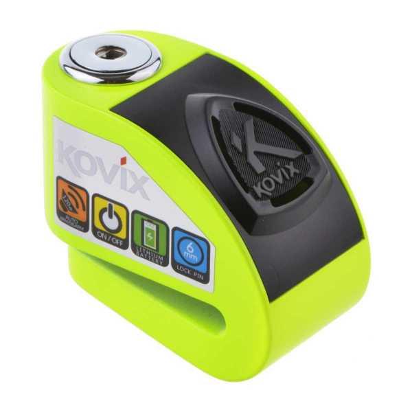 KOVIX KD6 Fluo grün 6mm Pin Bremsscheibenschloss mit Alarm