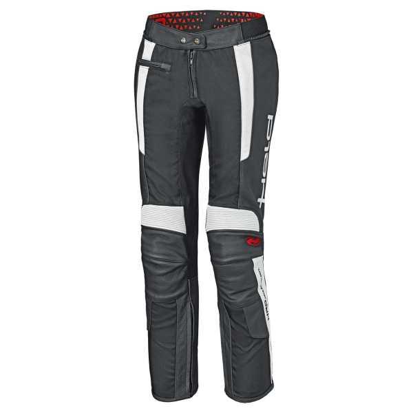 HELD Takano ll Damen Leder-Textil Tourenhose schwarz-weiß