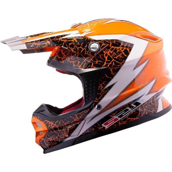 LS2 MX456.32 Craze Orange Gr. L (59/60)
