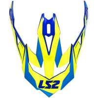 Ersatzschild für LS2 Subverter Nimble weiß-blau-gelb