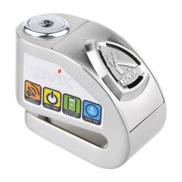 KOVIX KD6 Edelstahl 6mm Pin Bremsscheibenschloss mit Alarm