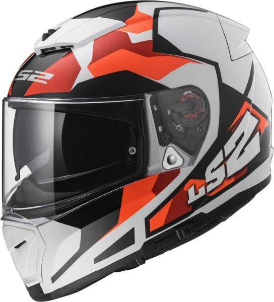LS2 Helm FF390 Breaker Sergent weiß-rot-orange