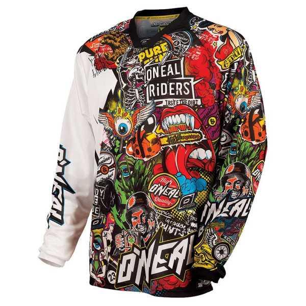 Oneal Mayhem-Lite Motocross Jersey Crank schwarz-multi