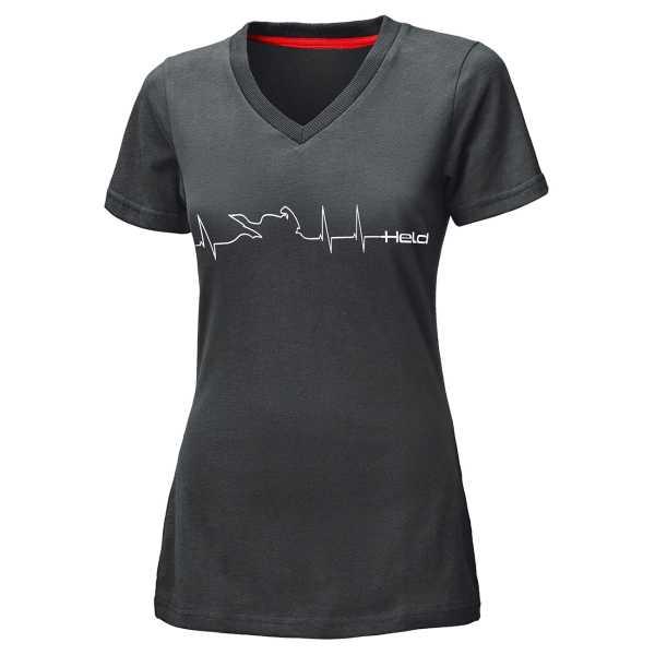 Held T-Shirt Be Heroic Damen grau