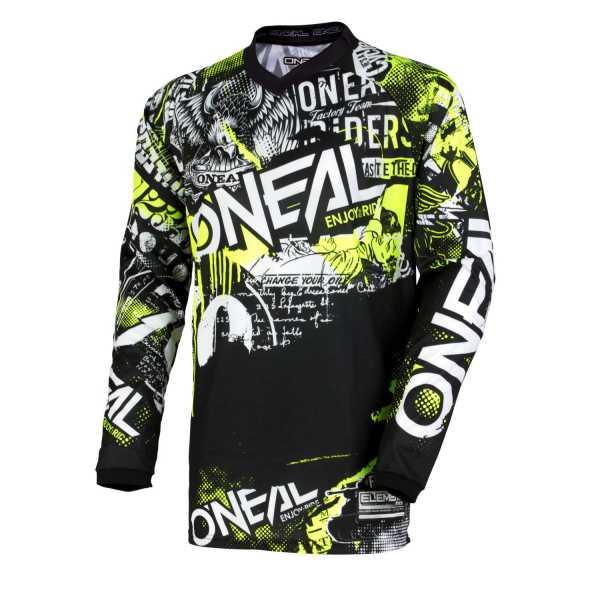 ONEAL Element Attack Motocross Jersey schwarz-neongelb