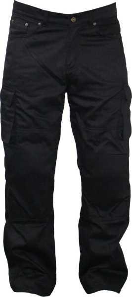 Motorrad Jeans mit Cargotaschen schwarz
