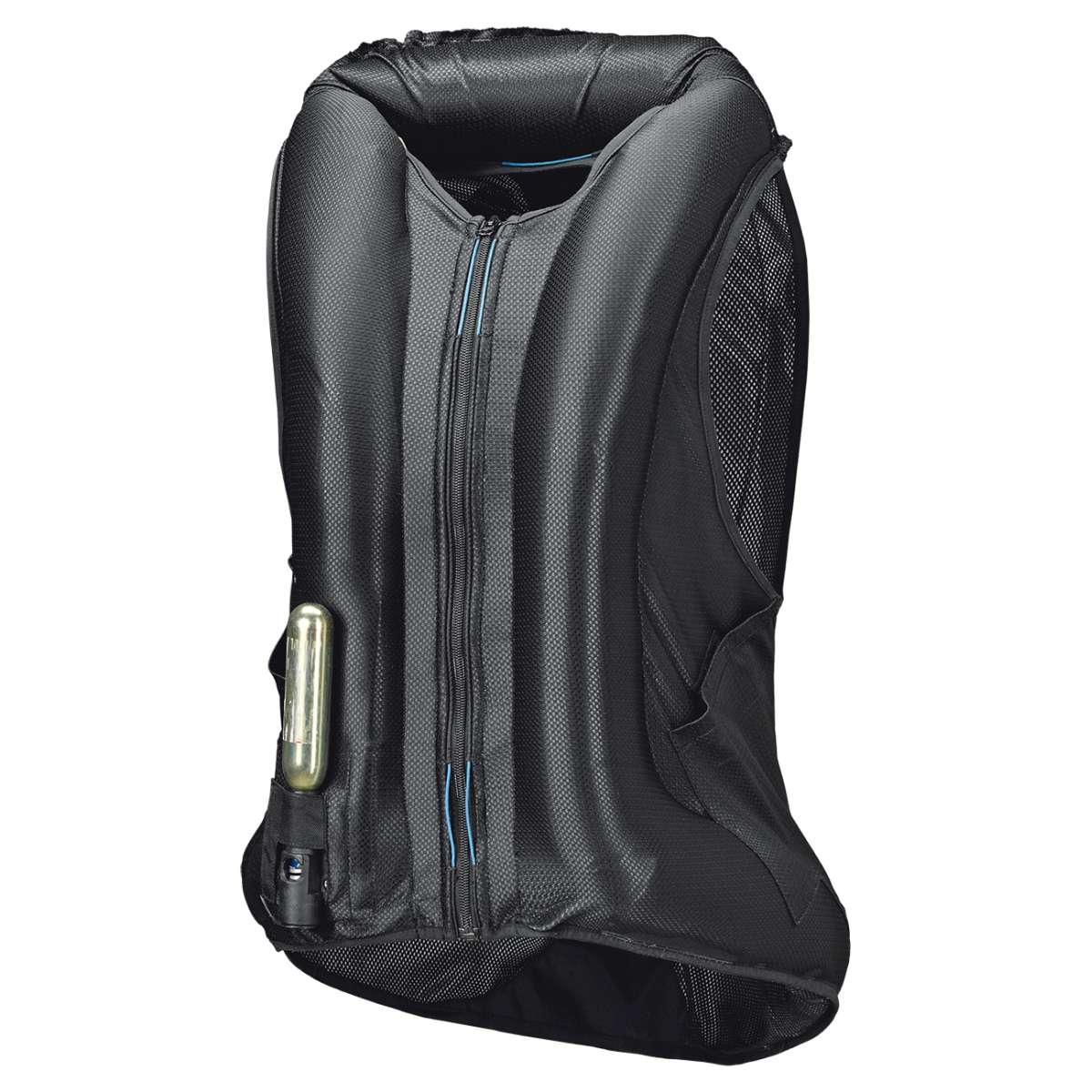 held clip in air vest airbag weste zum nachr sten schwarz. Black Bedroom Furniture Sets. Home Design Ideas