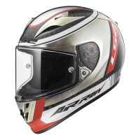 LS2 Arrow C Evo Indy Carbon FF323 Sport Integralhelm chrome-schwarz-rot
