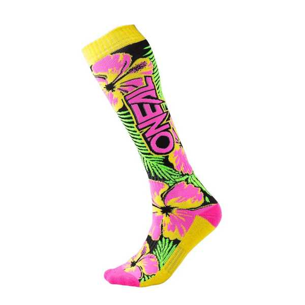 ONEAL Pro MX Socken Island pink-grün-gelb