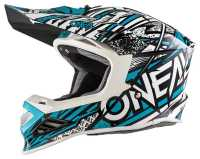 ONEAL 8Series SYNTHY Motocross Helm mint-weiss
