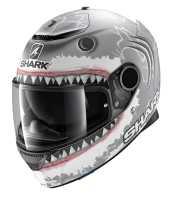 Shark Spartan 1.2 Replica LORENZO WHITE SHARK MAT Fiberglas Integralhelm matt-anthrazit-weiß