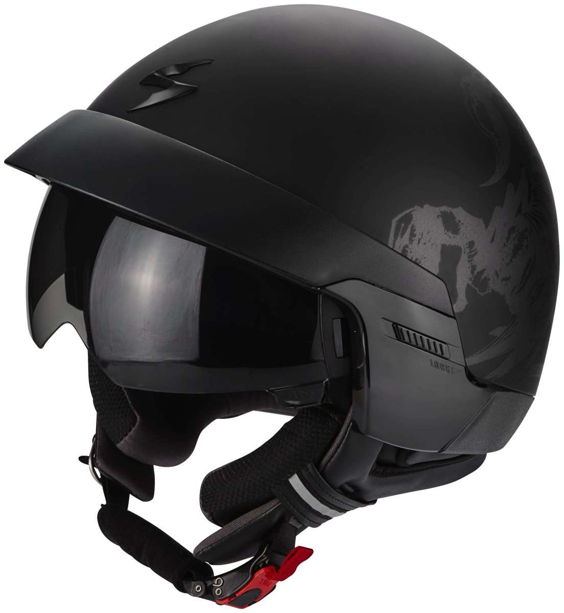 scorpion exo 100 jethelm matt schwarz cs bikewear. Black Bedroom Furniture Sets. Home Design Ideas