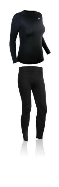 F-Lite SUPERLIGHT Damen Funtionsunterwäsche Set schwarz