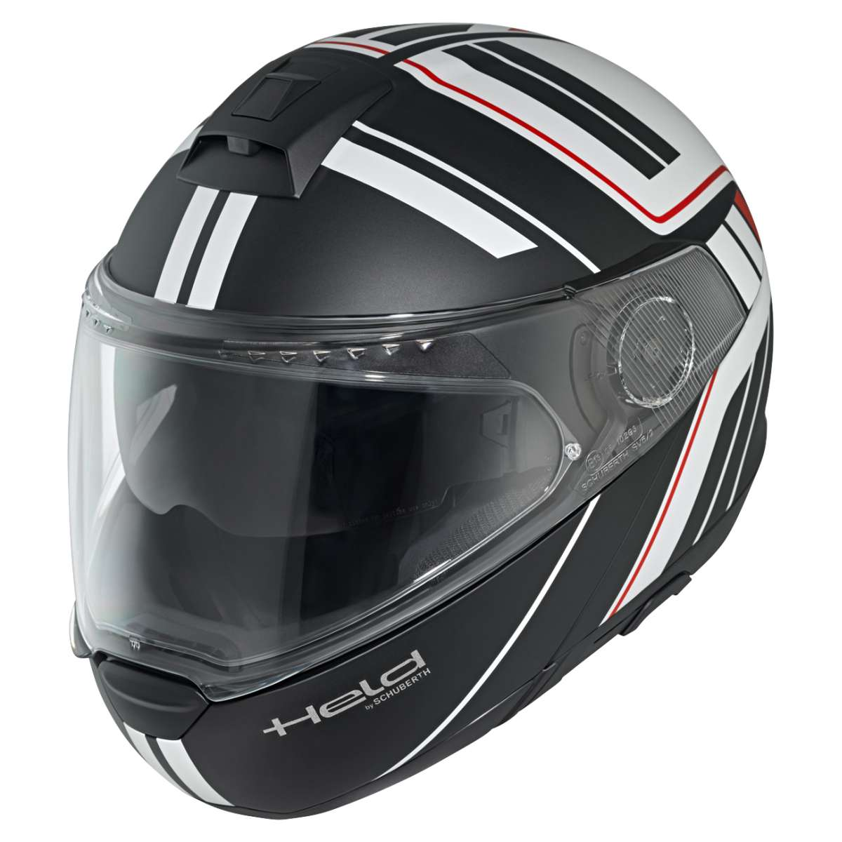 held by schuberth h c4 tour klapphelm schwarz wei. Black Bedroom Furniture Sets. Home Design Ideas