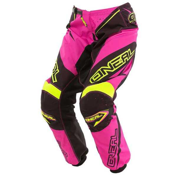 ONEAL Element Damen Motocross Hose Racewear 2017 schwarz-pink-gelb