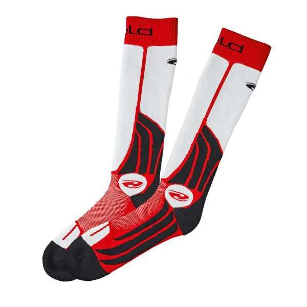 Held Race Sock Motorrad Kniestrümpfe schwarz-rot