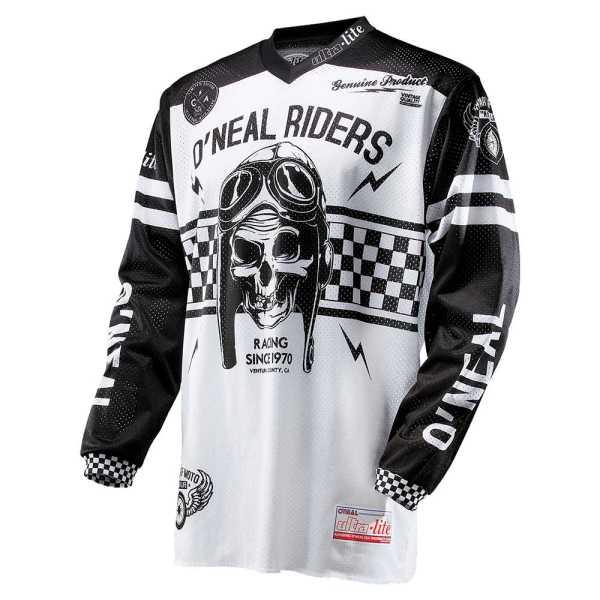 Oneal Ultra-Lite 70 Motocross Jersey schwarz-weiß