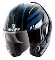 Shark Evoline 3 CORVUS Klapphelm schwarz-weiss-blau