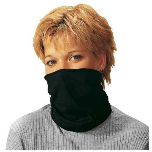 Halskrause Baumwolle schwarz