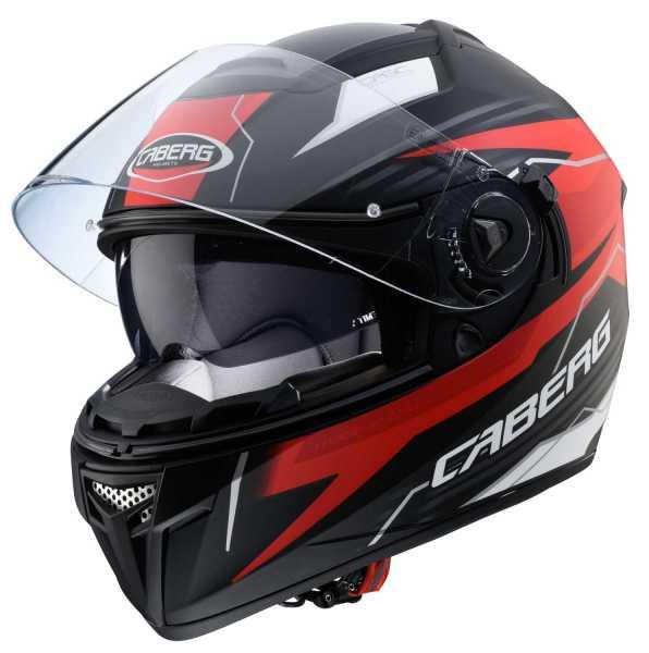 Caberg Helm EGO Quartz matt-schwarz-rot