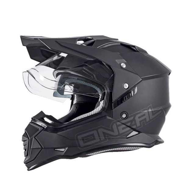 Oneal Sierra II Enduro Motocross Helm Flat schwarz