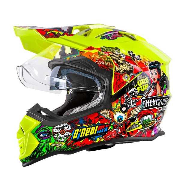 Oneal Sierra II Enduro Motocross Helm Crank neongelb-multi