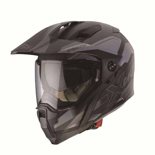 Caberg Xtrace SPARK Enduro-Helm matt-schwarz-anthrazit-silber
