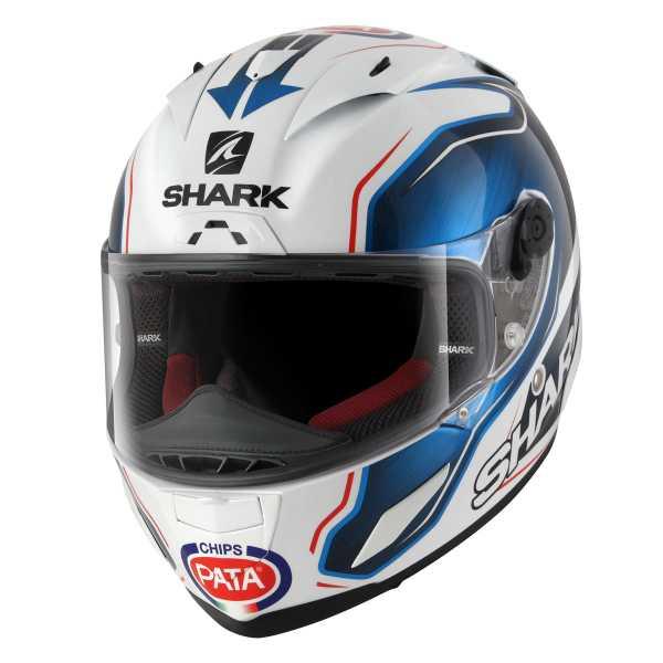 Shark Race-R Pro GUINTOLI weiß-blau-schwarz