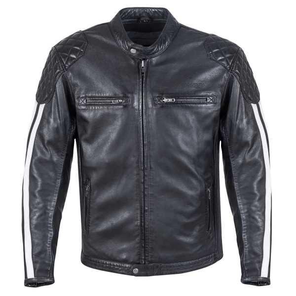 Germot CRUISE Lederjacke schwarz-weiß