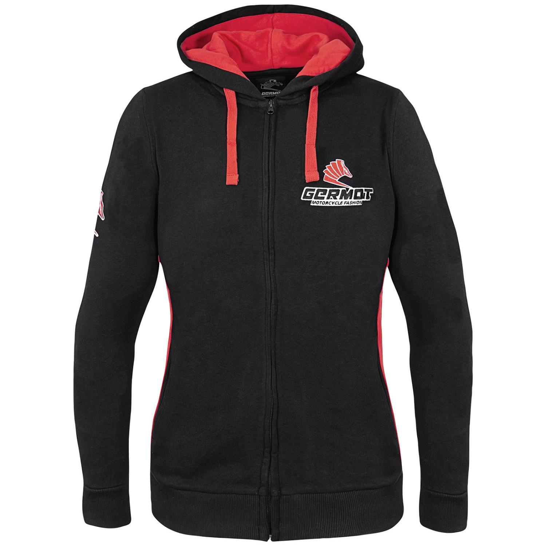 germot hoodie damen schwarz rot cs bikewear. Black Bedroom Furniture Sets. Home Design Ideas